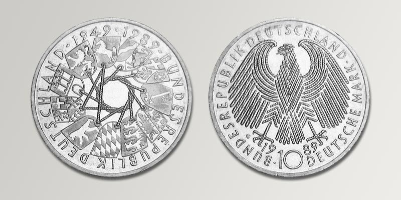10 dm gedenkm nzen deutschland brd deutsche mark. Black Bedroom Furniture Sets. Home Design Ideas