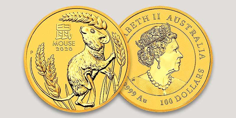 Lunar Serie III 1 oz Motiv- und Wertseite Gold