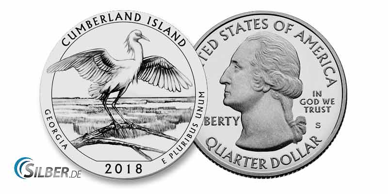 America the Beautiful: Cumberland Island National Seashore, Georgia - 5 oz Silbermünze