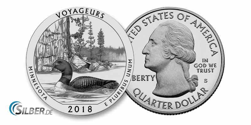 America the Beautiful: Voyageurs National Park, Minnesota - 5 oz Silbermünze