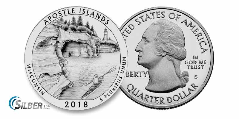 America the Beautiful: Apostle Islands National Lakeshore, Wisconsin- 5 oz Silbermünze