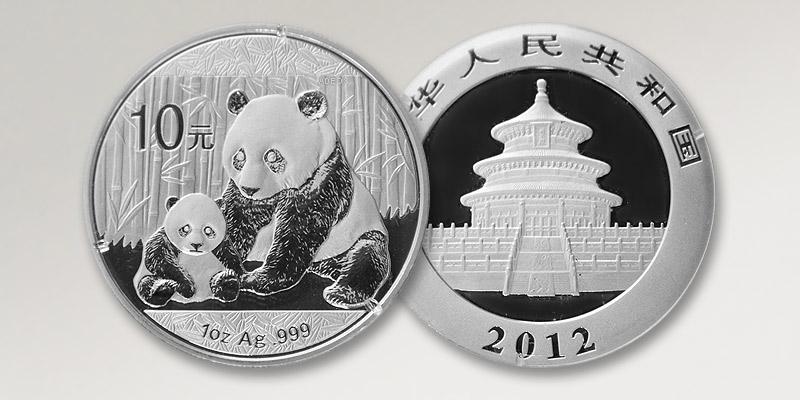 Silbermünze Panda China