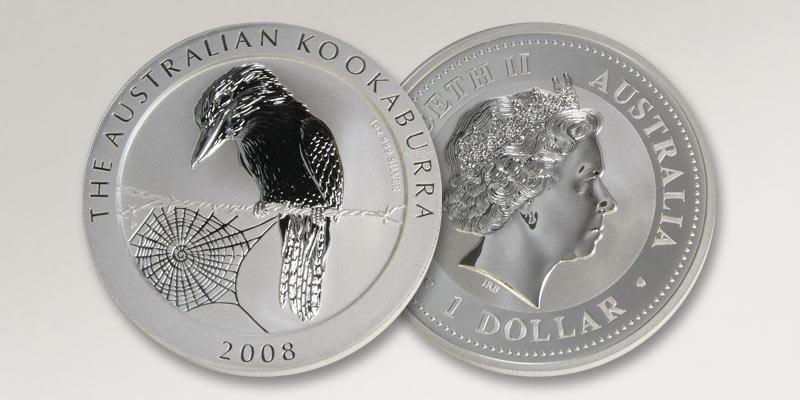 Silbermünze Kookaburra Australien