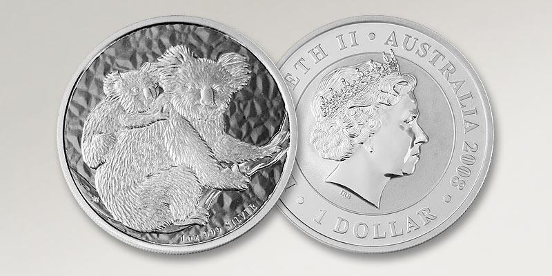Koala Silbermünze Australien